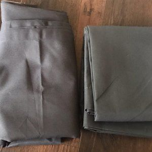 Twill Curtain Panel Charcoal